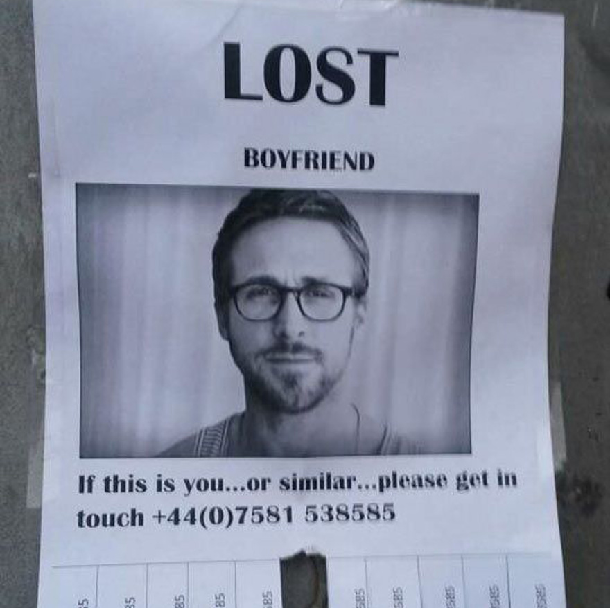 Lost boyfriend really ryan gosling
