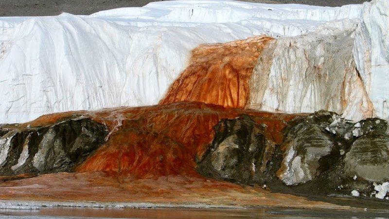Blood Falls glacier in Antartica