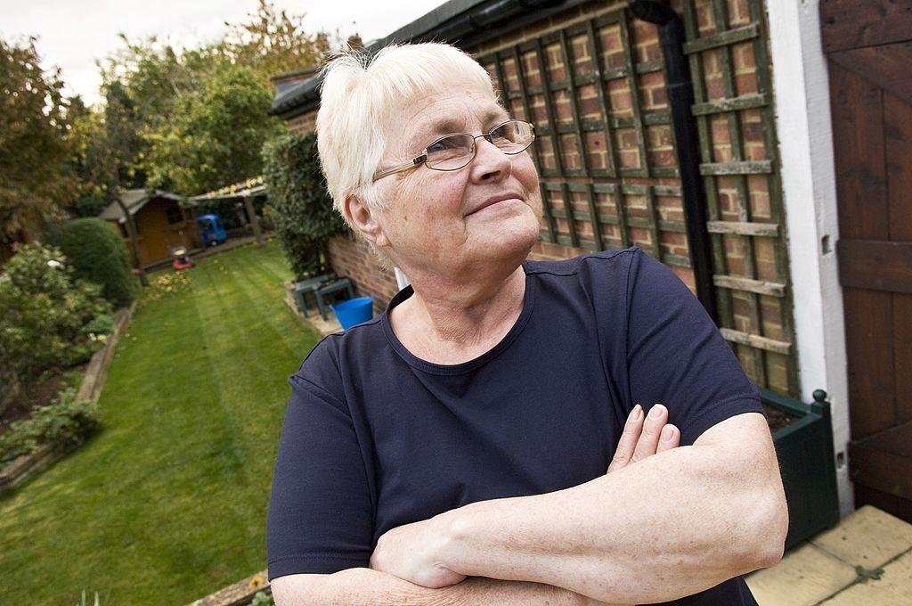 Portrait of senior woman in garden