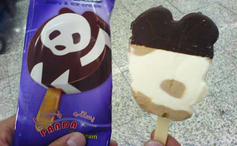 Panda Ice Cream Food Fail