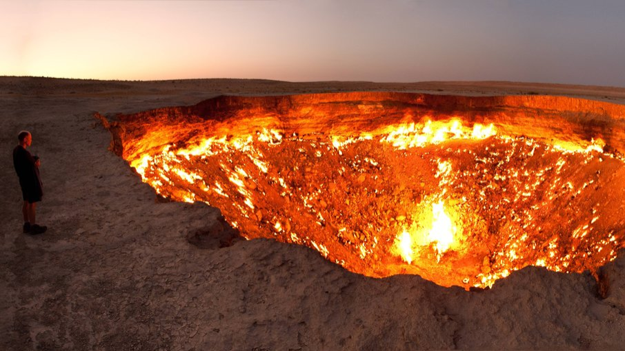 The Darvasa Gas Crater or Hell's Gate
