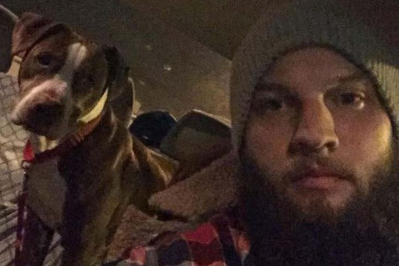 Zach Holt's selfie with Zimba