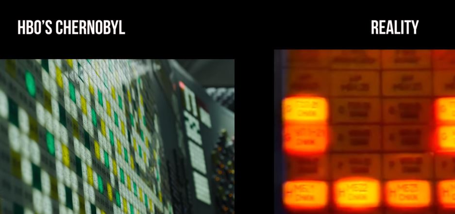 chernobyl display panel tv series versus reality