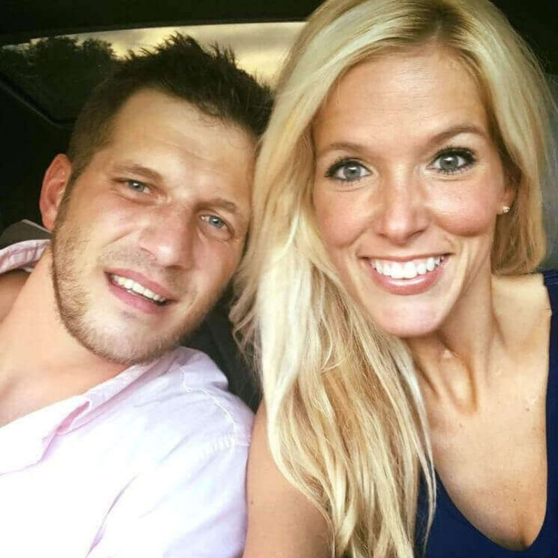 mandi and tyler photo together selfie in car