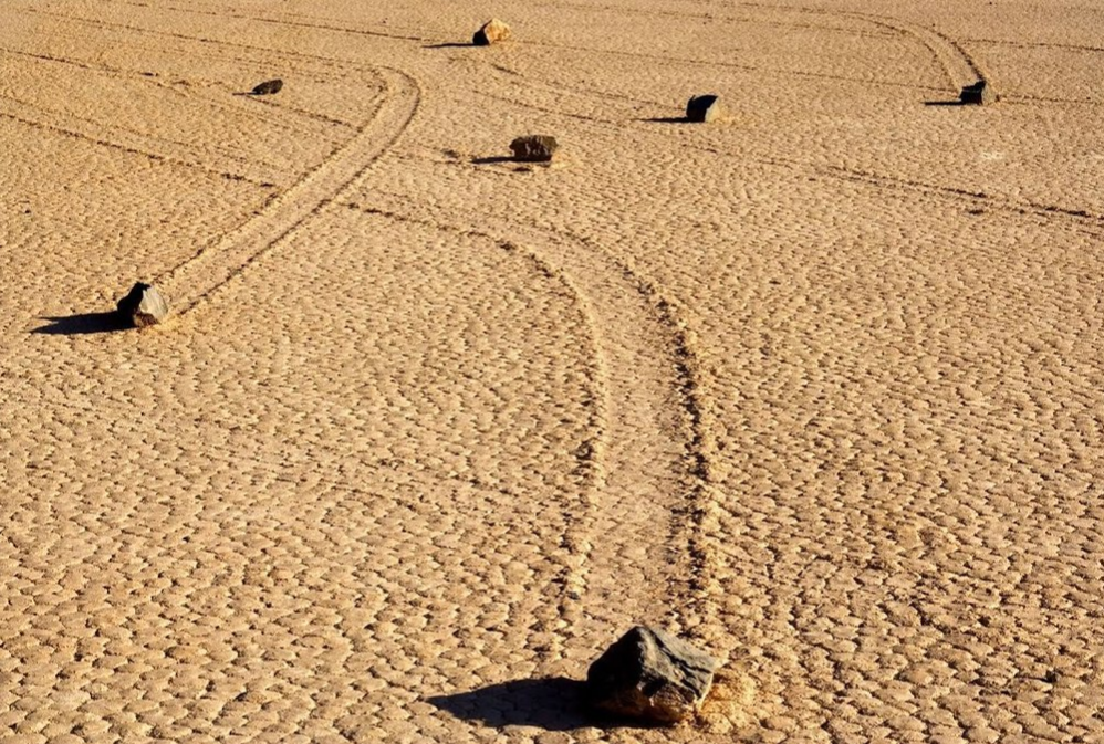 sailing stones in Death Valley National Park, California
