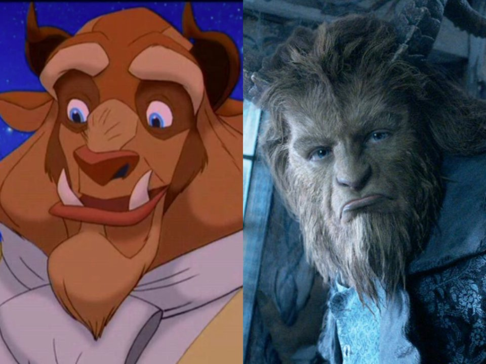 beast live action and animated