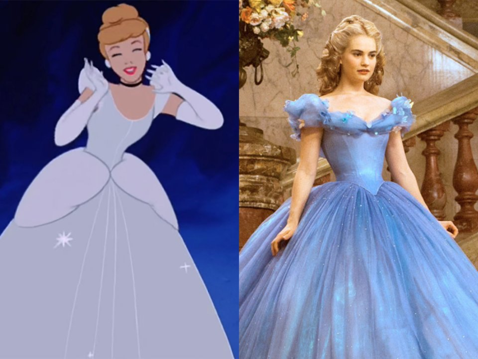 lily james live action and animated cinderella