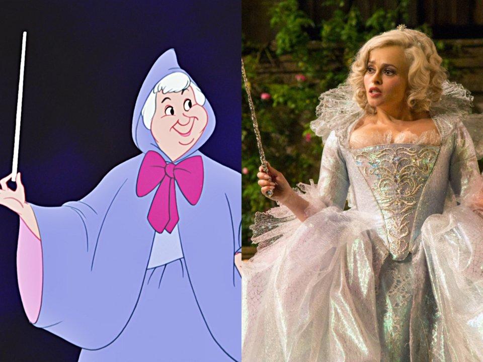 helena bonham carter as the fairy godmother in cinderella