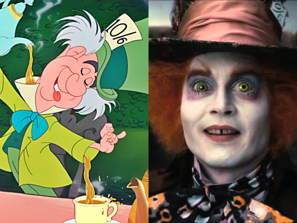 johnny depp mad hatter in live action alice in wonderland