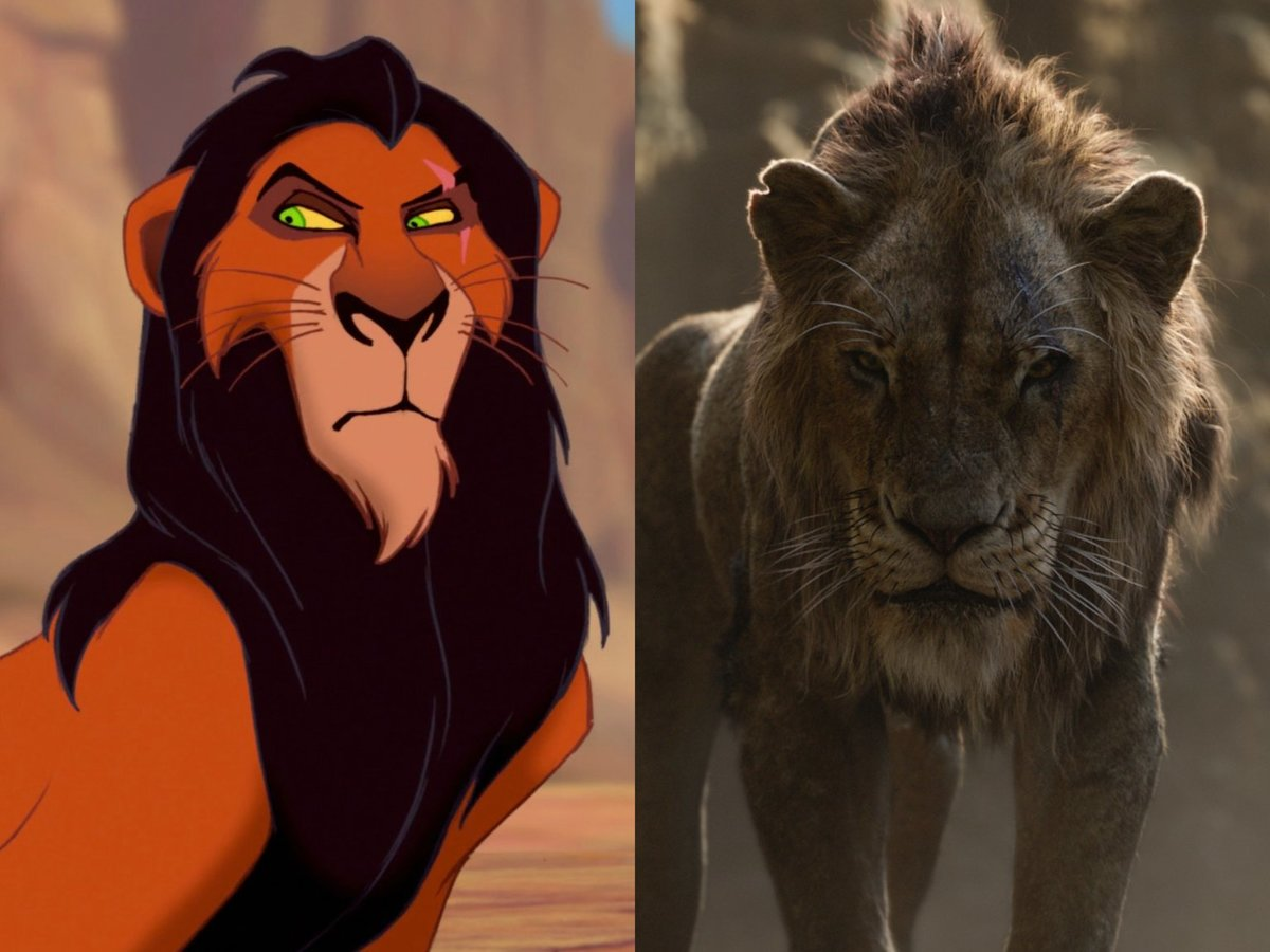 Chiwetel Ejiofor as scar in the lion king