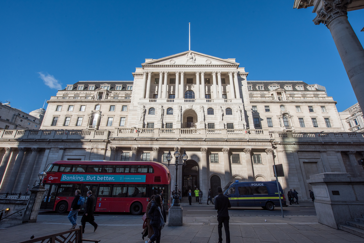 A general view of the Bank of England with a London