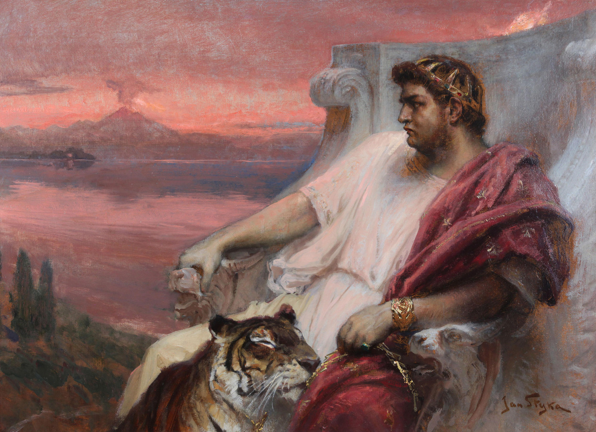 Nero at Baiae, c. 1900. Private Collection.