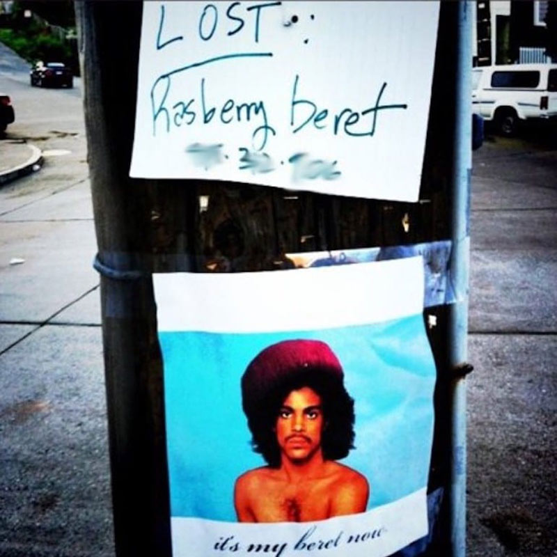 Lost and found Raspberry beret