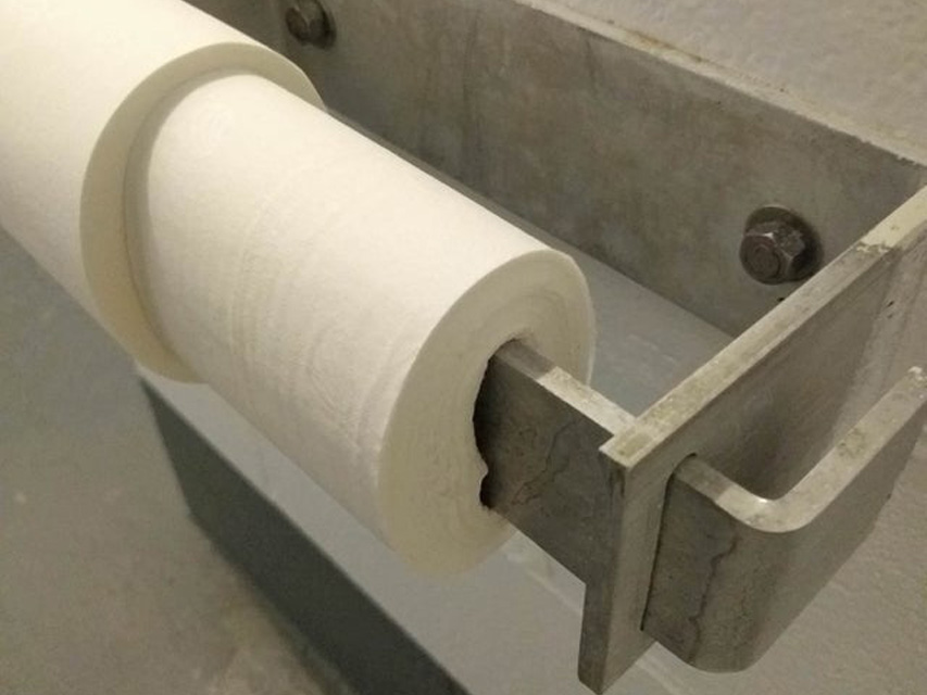 No spin with this toilet paper, just rip and hope for the best
