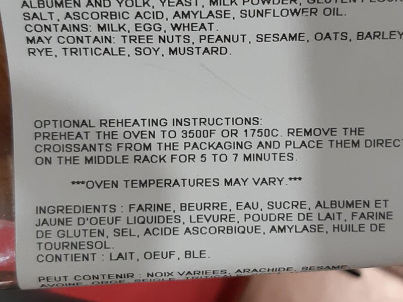 costco heating instructions