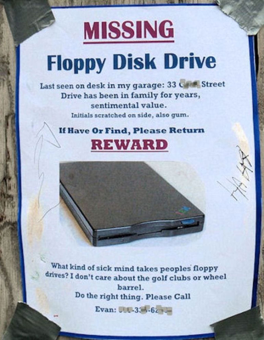 stolen property includes floppy disk drive