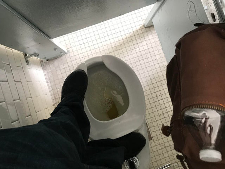 Stall too Small for use, one must stand to use