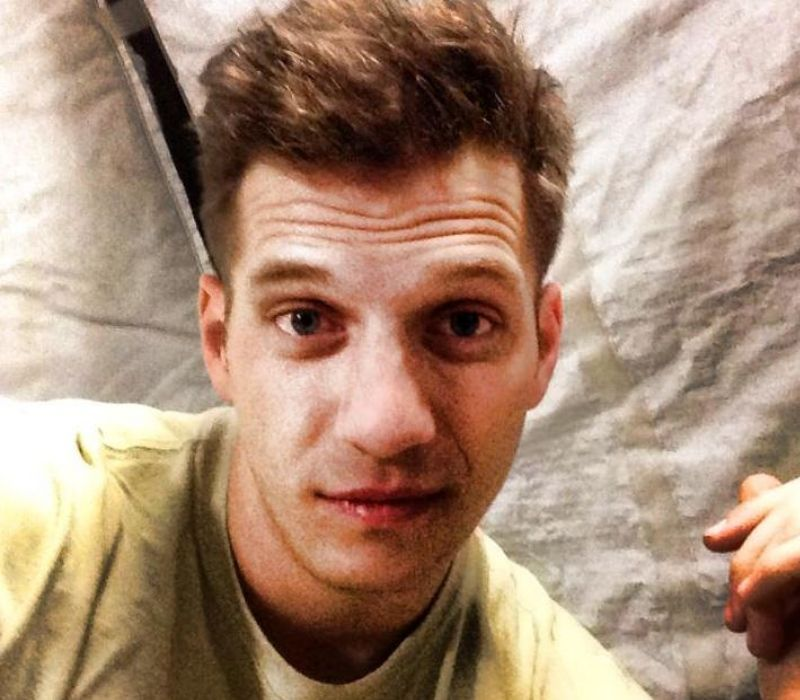 tyler palmer military selfie in military