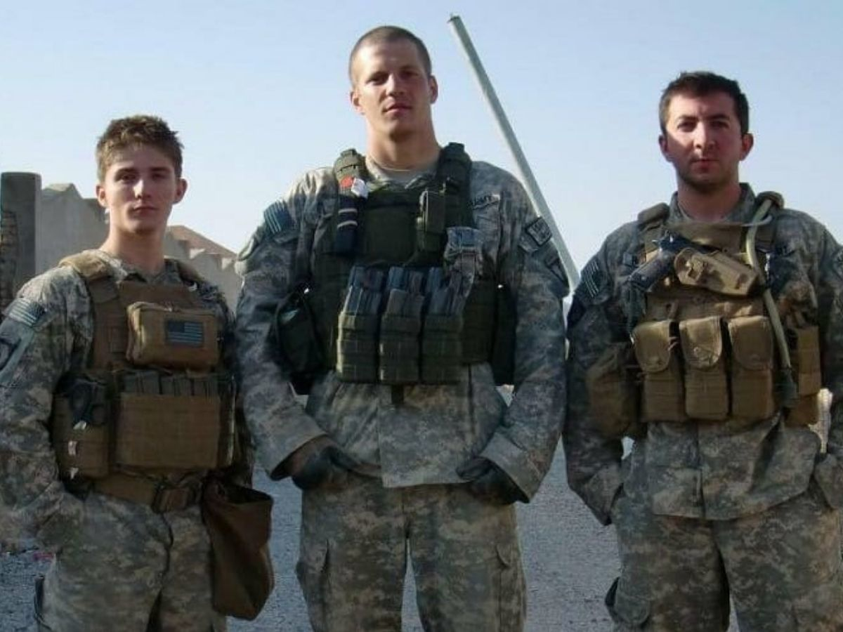 tyler palmer with military friends