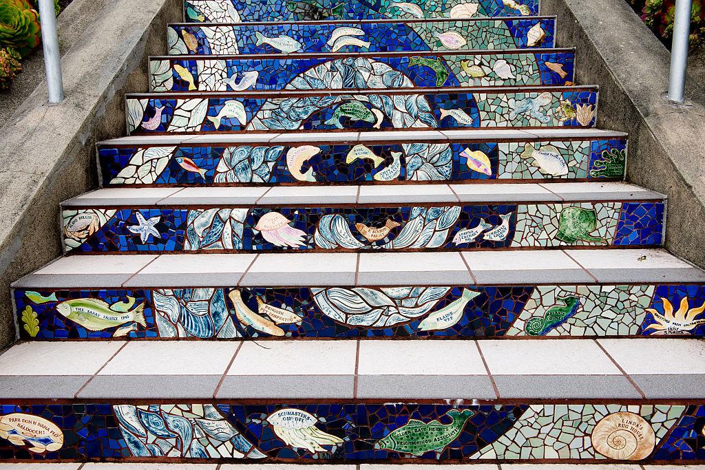 16th Avenue Tiled Steps in san fran