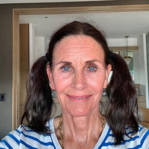 courteney cox with the aging filter
