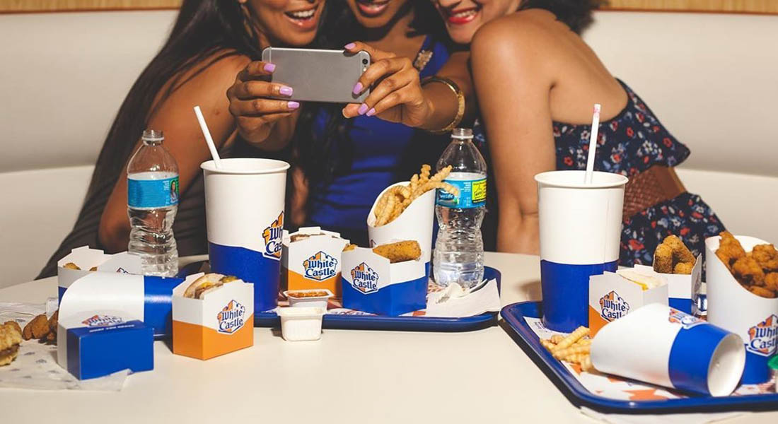 an image of white castle customers