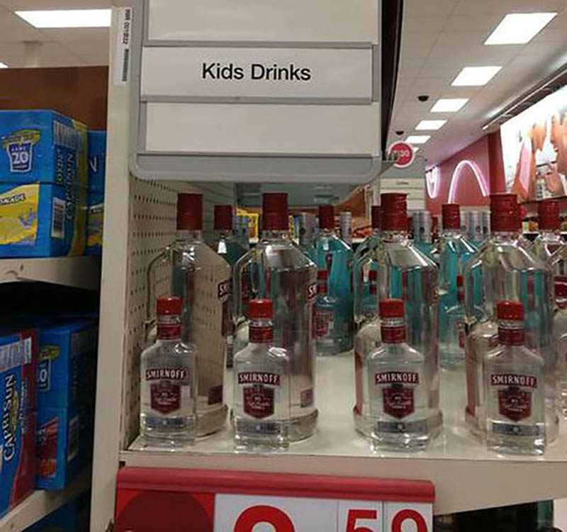 these aren't kids drinks