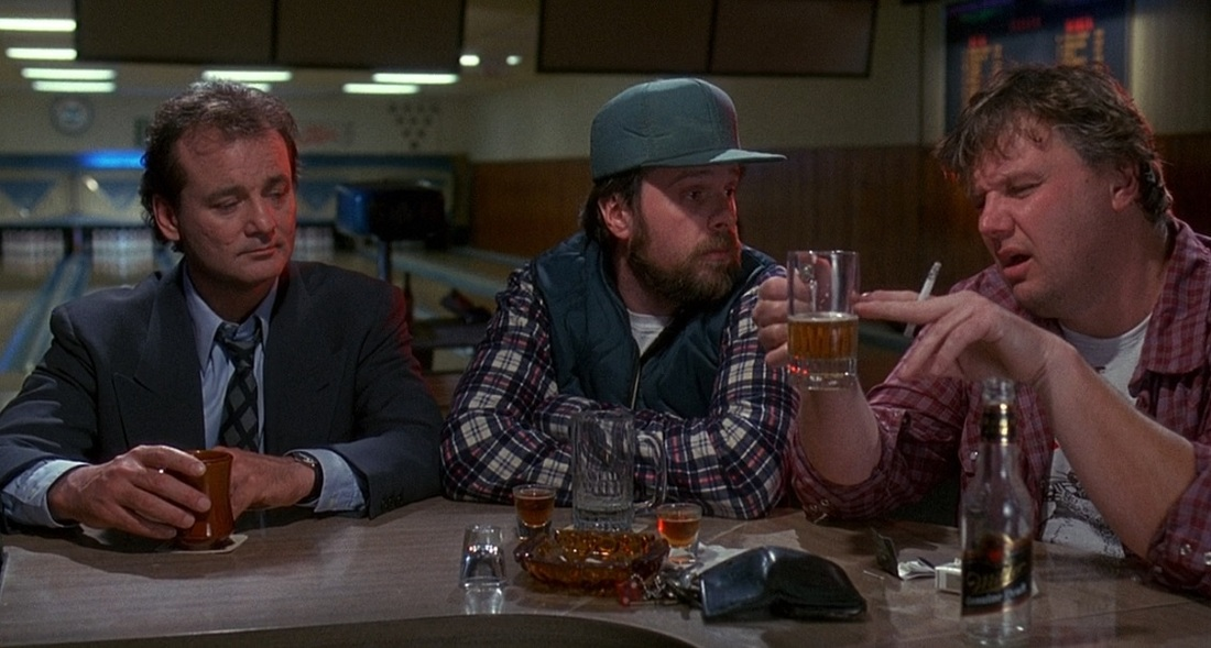 Bill Murray at a bar in Groundhog Day