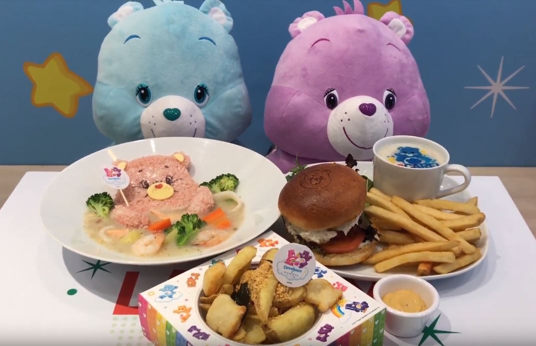 Food and plushies from Care Bear Cafe in Singapore