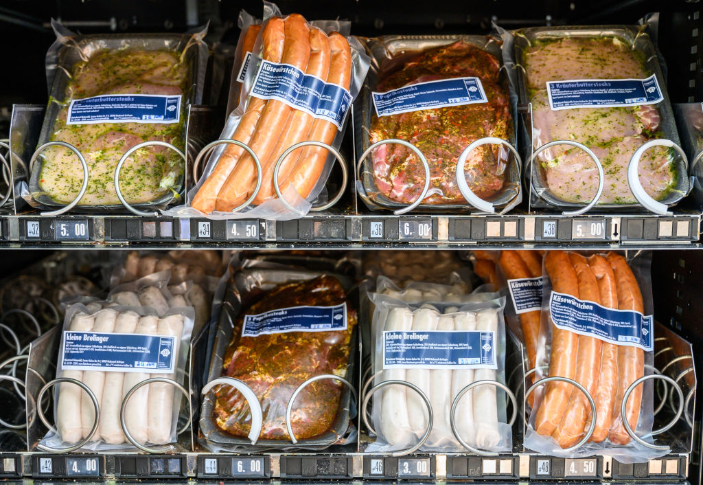 Sausages in vending machines