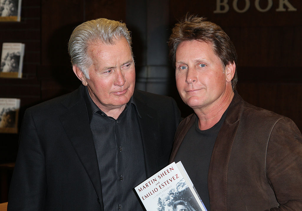 Actors Martin Sheen (L) and Emilio Estevez