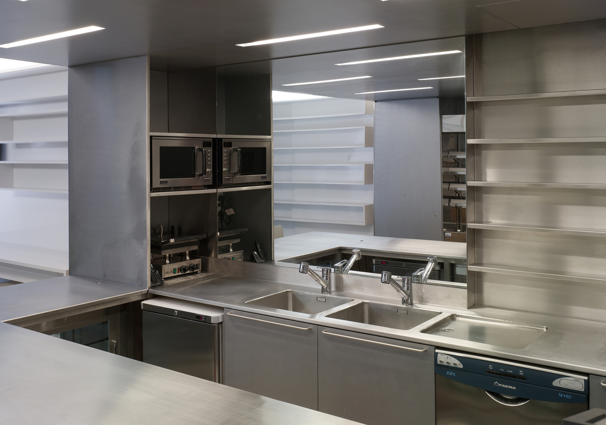 Stainless steel kitchen in London, England