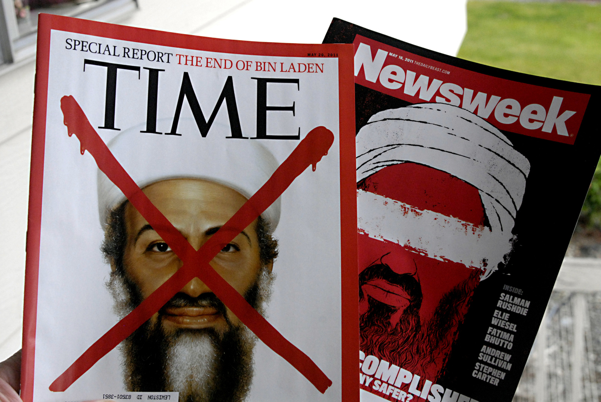 American News magazine Time and Newsweek Osama ben Laden dead news