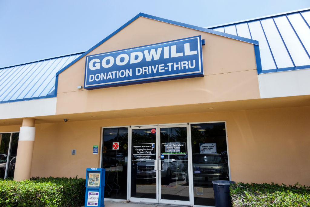 the entrance to a goodwill