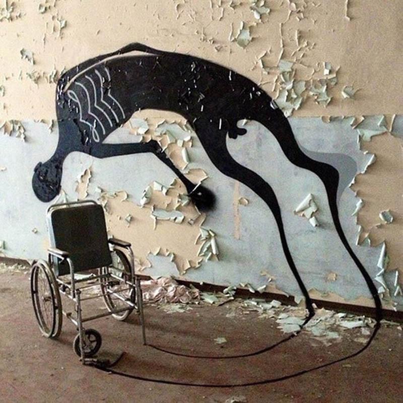 Herbert Baglione creepy wheelchair