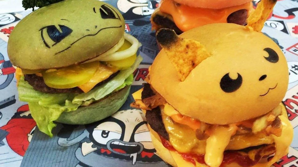 Pokemon-inspired burgers from an Australian restaurant