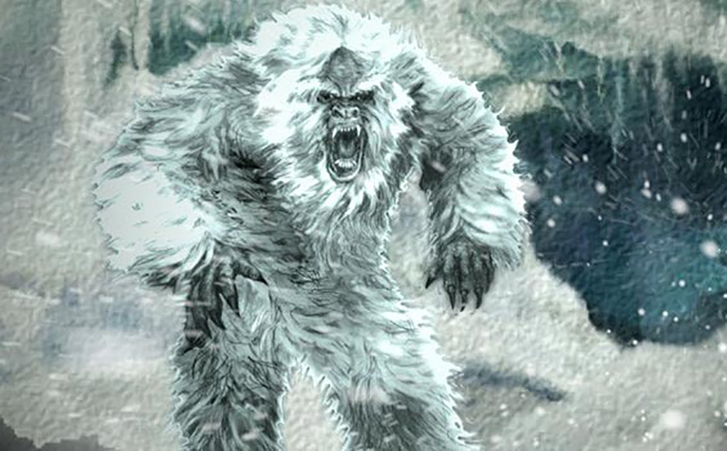 Yeti outside of cave