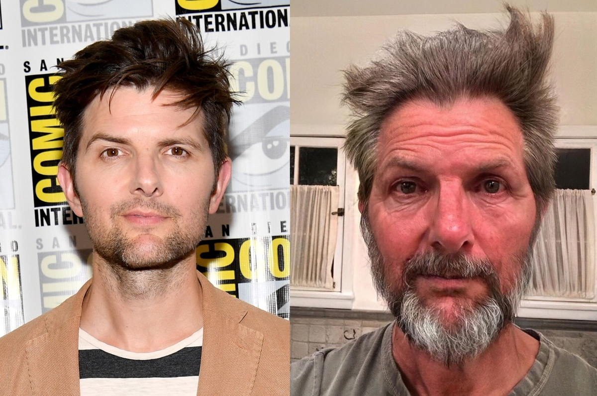 adam scott with the faceapp aging filter