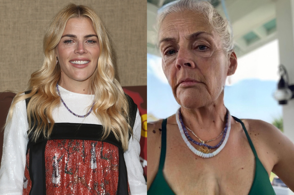 busy philipps with the faceapp aging filter