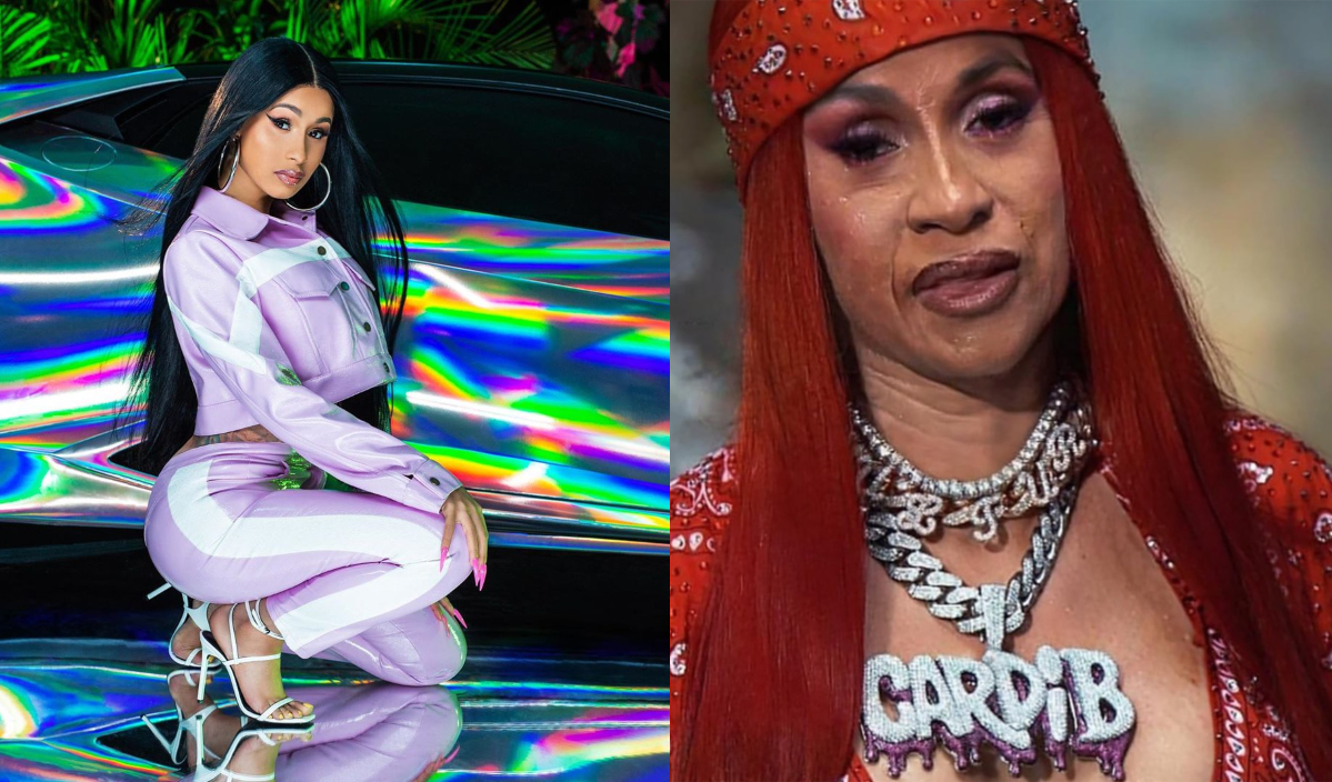 cardi b with the aging filter