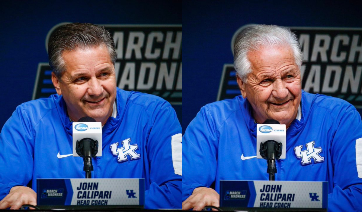coach Calipari with the aging filter