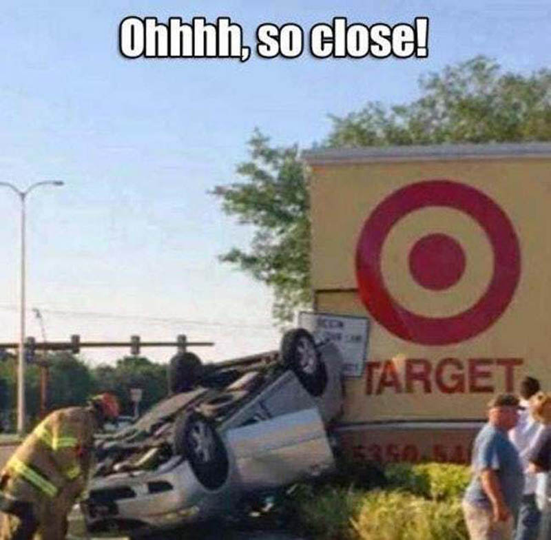 failed target practice