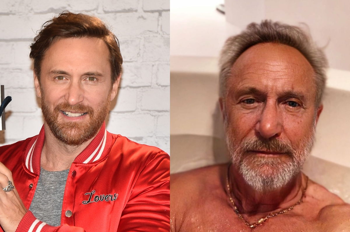 david guetta with the aging filter