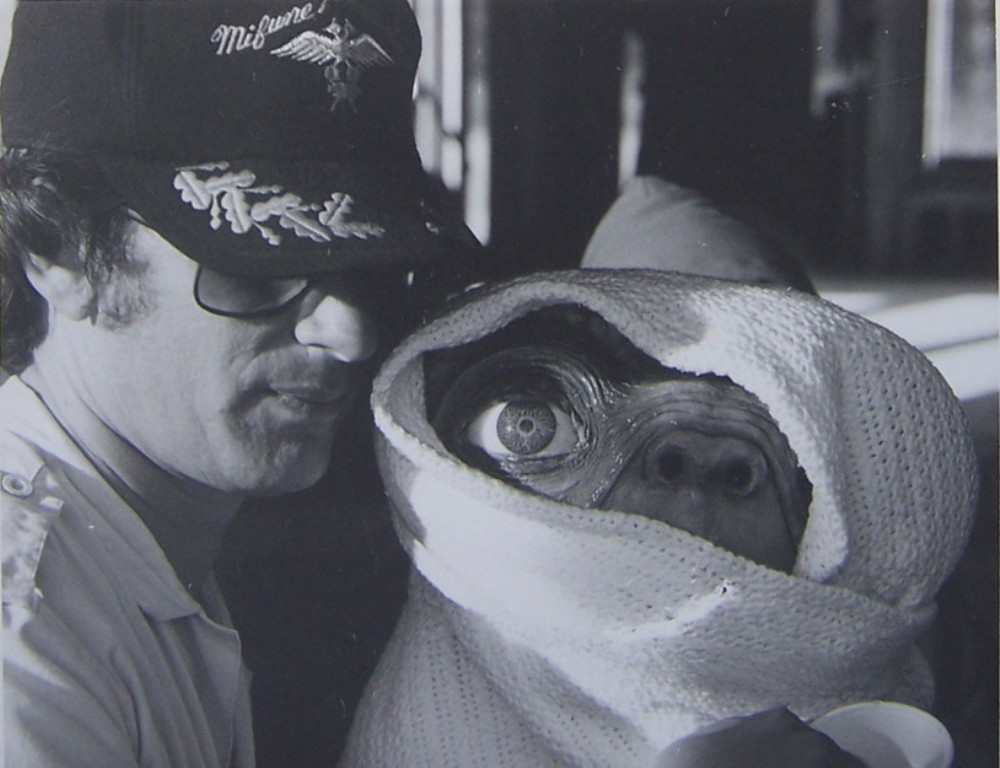 Steven Spielberg with ET dolls