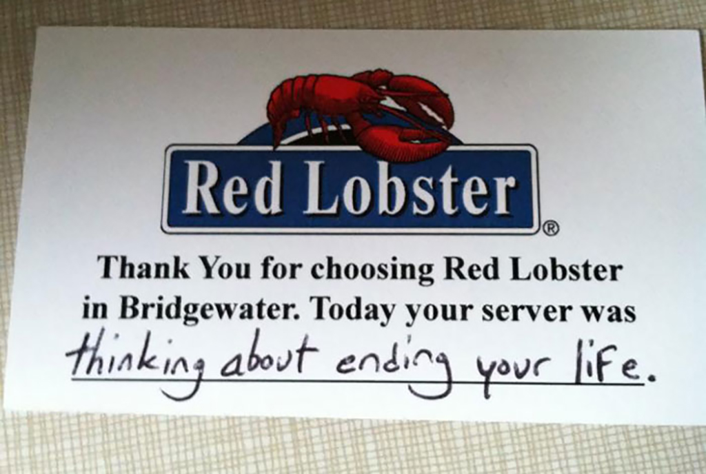 Red Lobster card