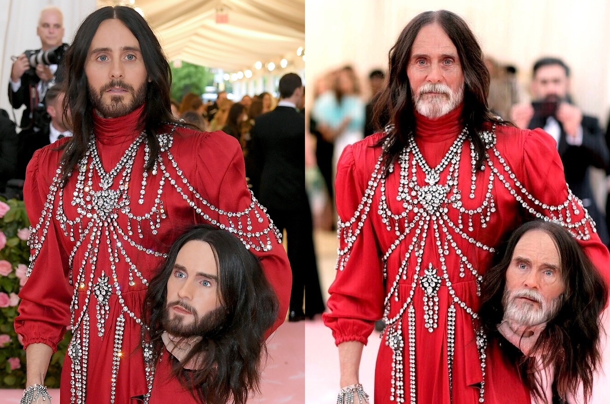 jared leto with the faceapp aging filter