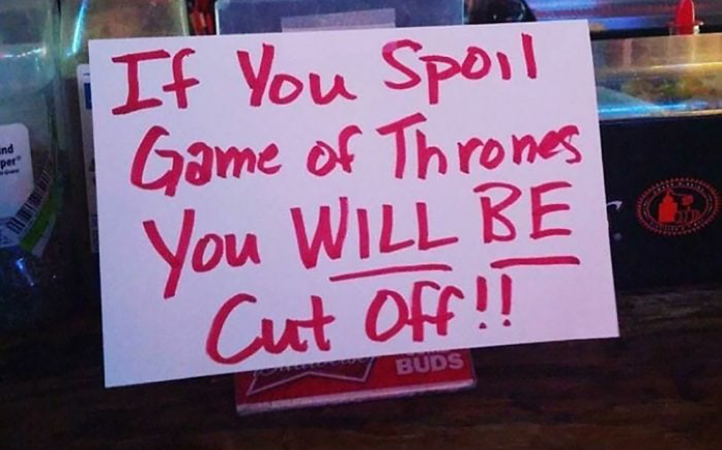Game of Thrones sign