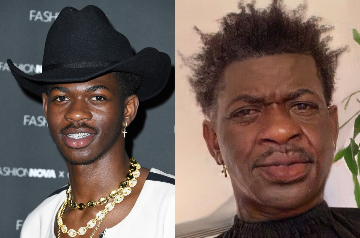 lil nas x with the aging filter