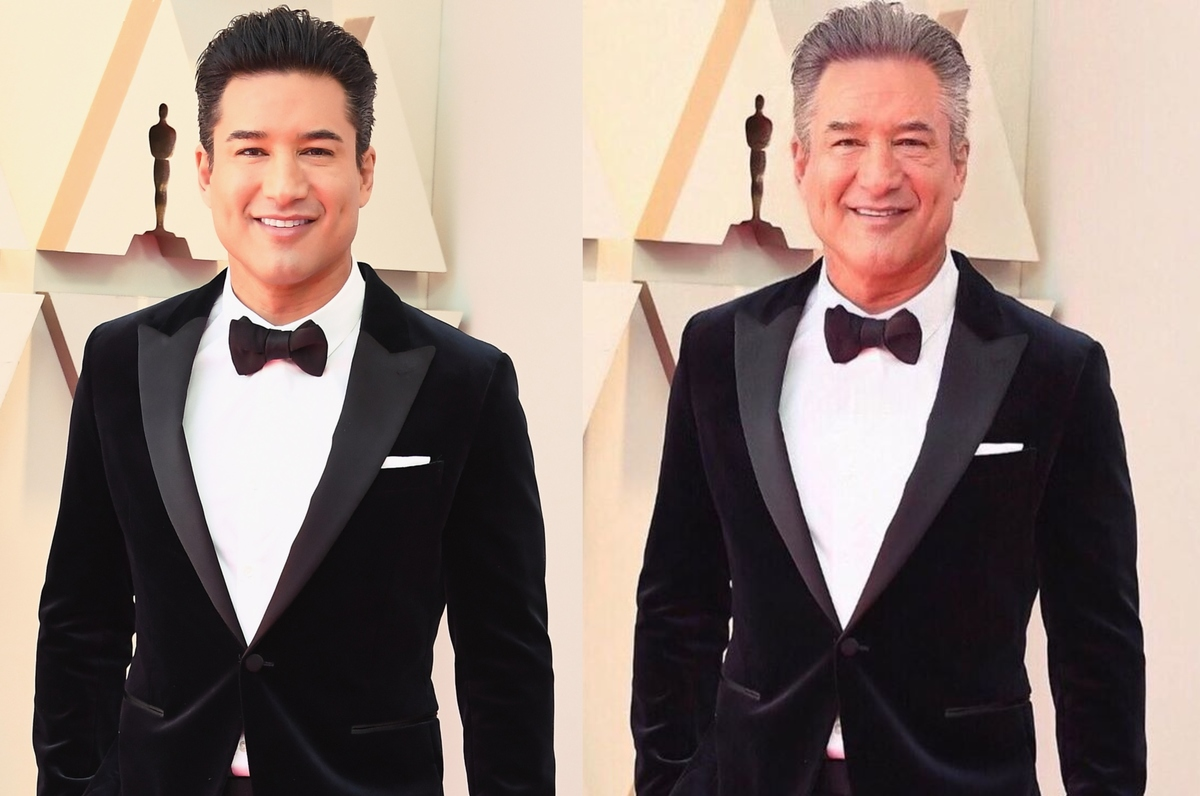 mario lopez with the faceapp aging filter