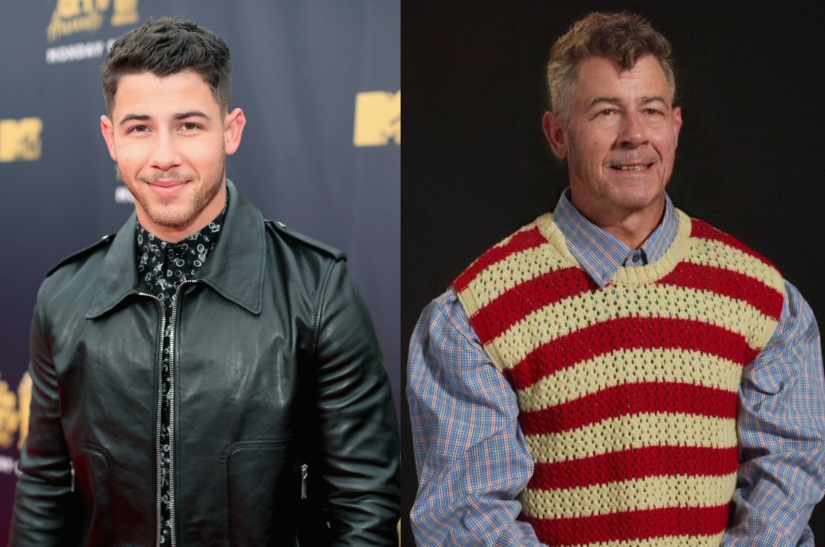 nick jonas with the aging filter
